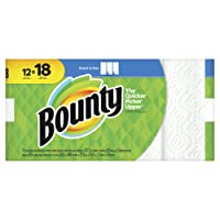 Bounty select-a-size paper towels, white, 12 giant rolls (18 regular rolls), 12 Count