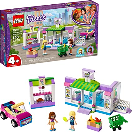 Amazon Com Lego Friends Heartlake City Supermarket 41362 Building Kit 140 Pieces Toys Games