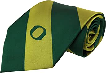 One Size Charcoal Donegal Bay NCAA Oregon Ducks Striped Tie