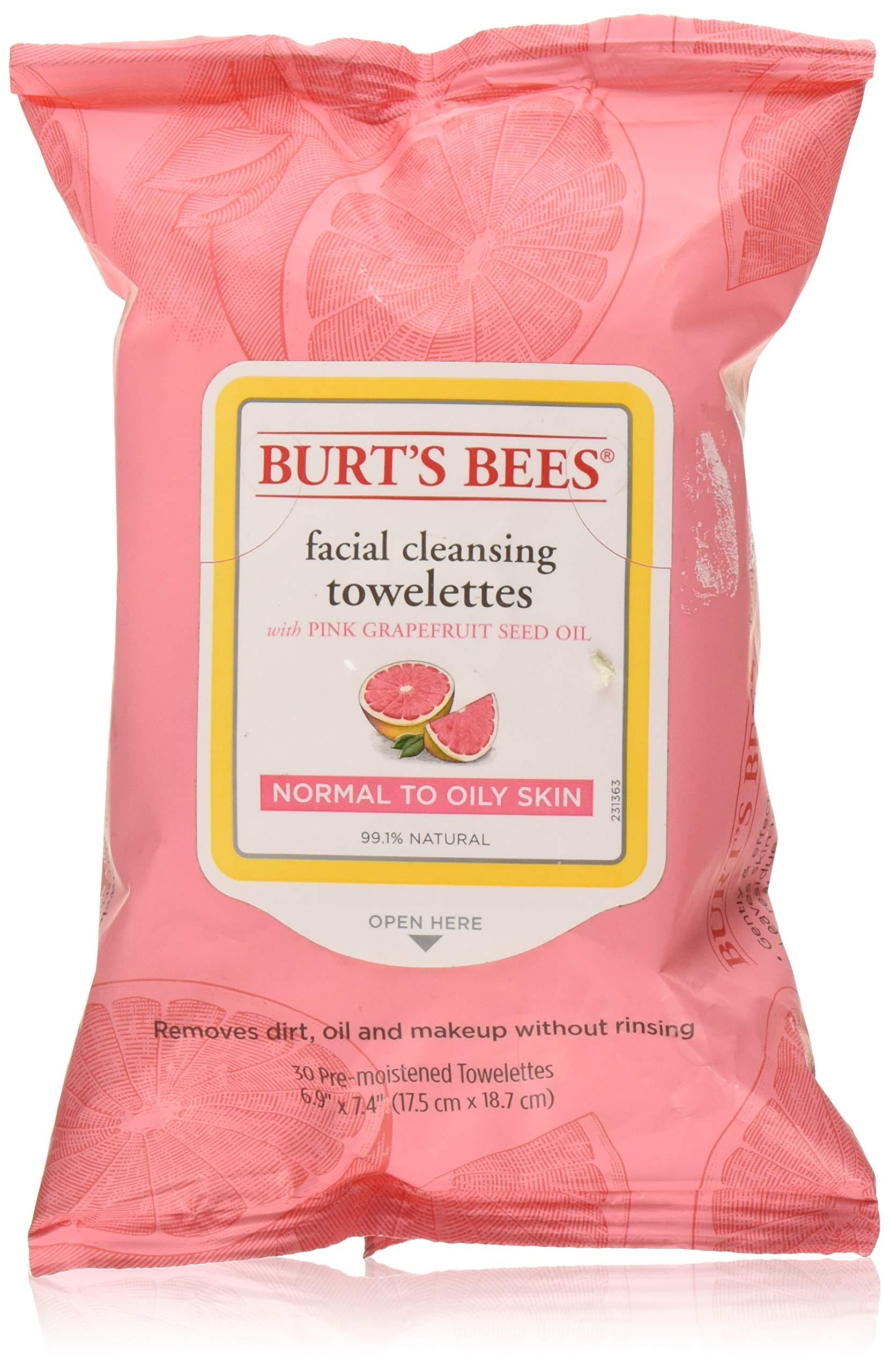 Burts Clnse Towelette Gra Size 30ct Burts Cleasing Towel Pink Grapefruit 30ct