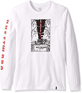 ee8c2ed7c5467 Amazon.com: HUF Men's Kaboom Pocket L/S Tee: Clothing