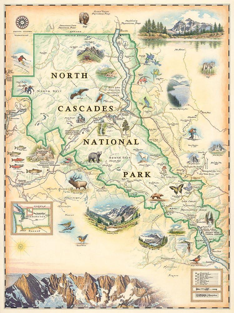 Vintage Map of the Mountains VINTAGE MOUNTAIN PRINT Histo Antique Map Print