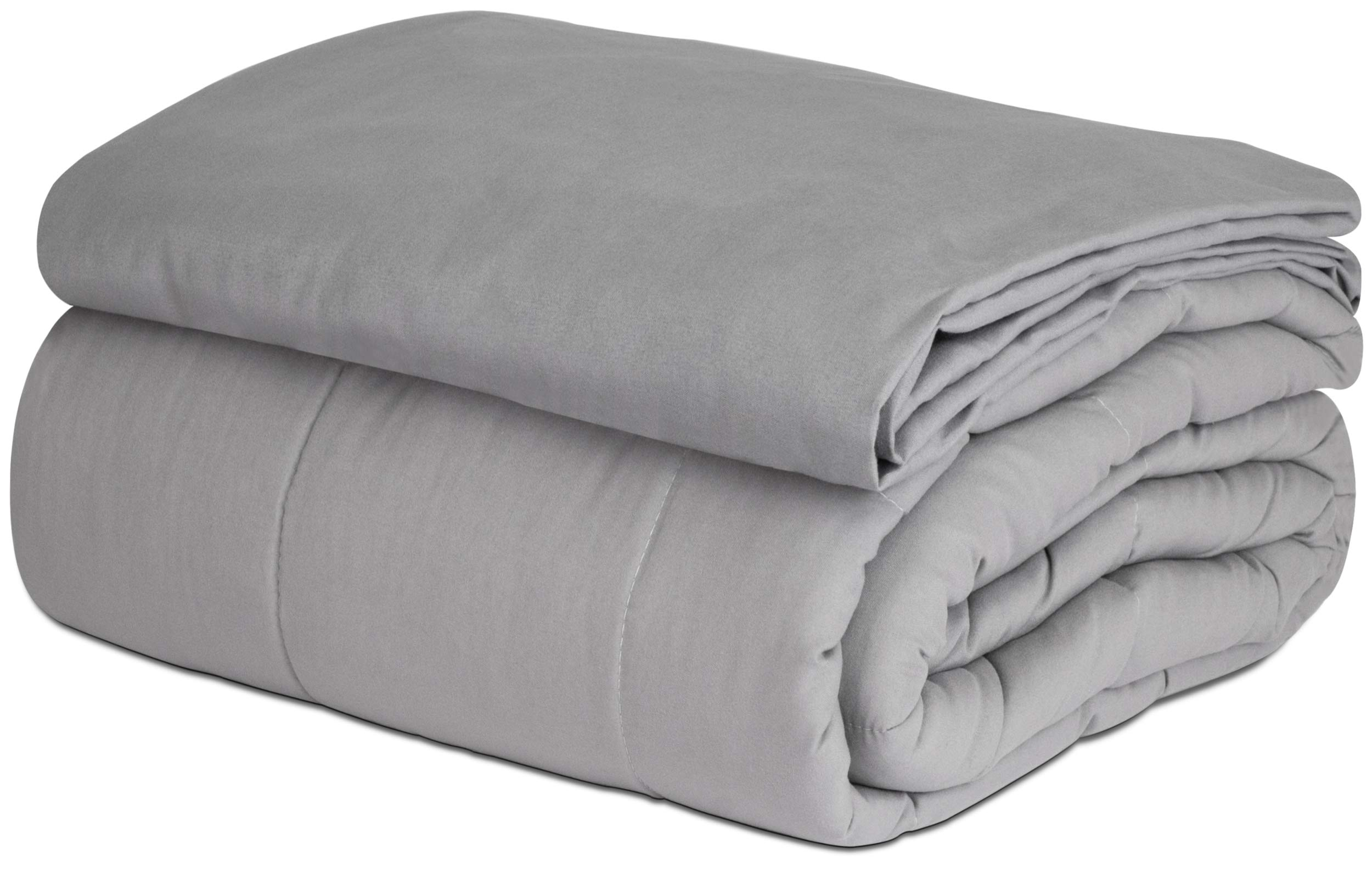 SAFR Home Therapy Weighted Blanket & Removable Cover (60''x80'' | 15 lbs, Grey Cooling) by SAFR