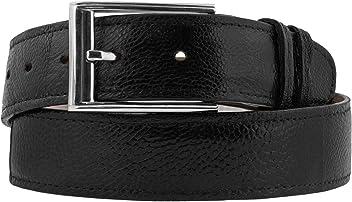 1b9fd496 El Presidente - Men's Black Real Ostrich Foot Skin Belt Silver Buckle