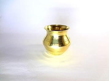 Buy STE Brass Small lota/Kalash for Religious use GET 30 Gram