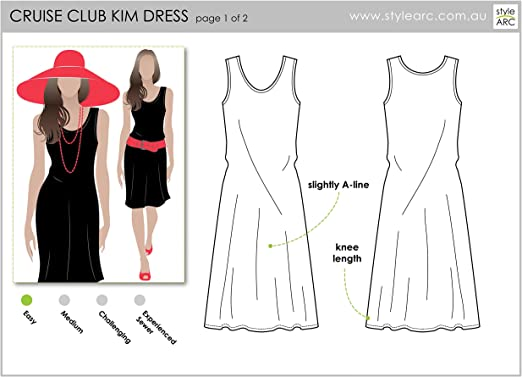Click for Other Sizes Available Style Arc Sewing Pattern Sizes 04-16 Slip on Suzie Dress