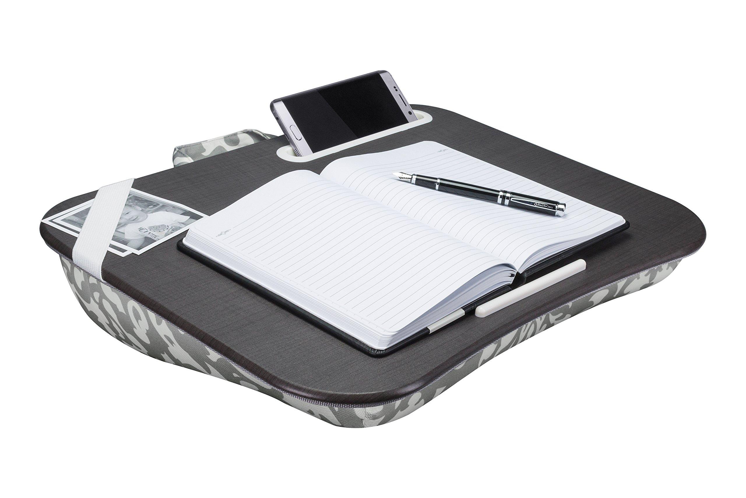 LapGear Designer Lap Desk, Gray Damask (Fits up to 17.3'' Laptop)