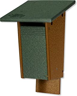 product image for DutchCrafters Sparrow Resistant Bluebird Poly House - Post or Wall Mount (Turf Green & Cedar)