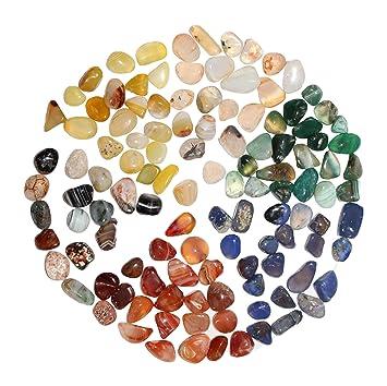 100 piezas de ágata natural pulida, relleno de piedra para jarrón, maceta de piedra