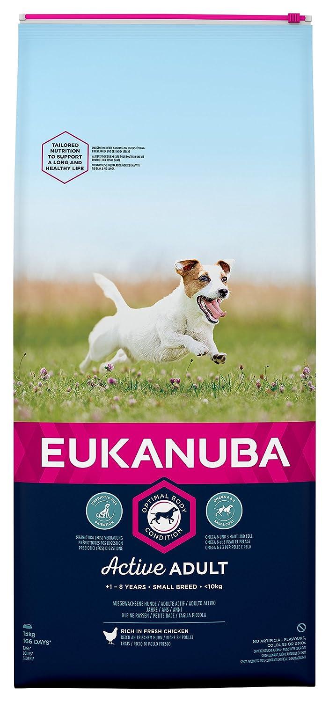 Eukanuba - Croquettes pour Chien Adulte Petite Race - Poulet - 15kg 8710255119953