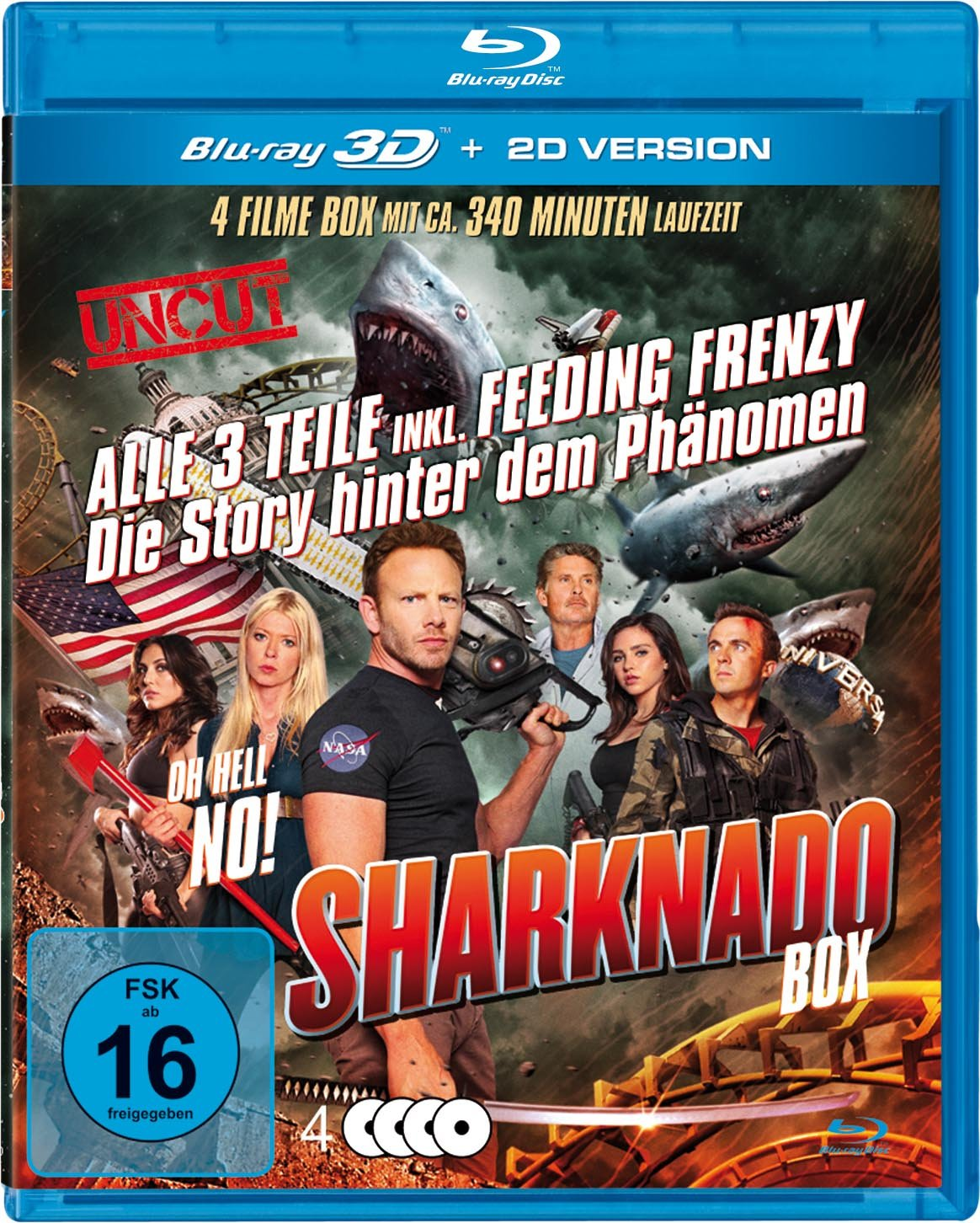 Sharknado 1-3 Box-Edition 3 Blu-rays plus Bonus-DVD Francia Blu ...