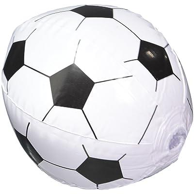 12 Soccer Ball Beach Balls Inflatable Fun Toy 1 Dozen: Toys & Games