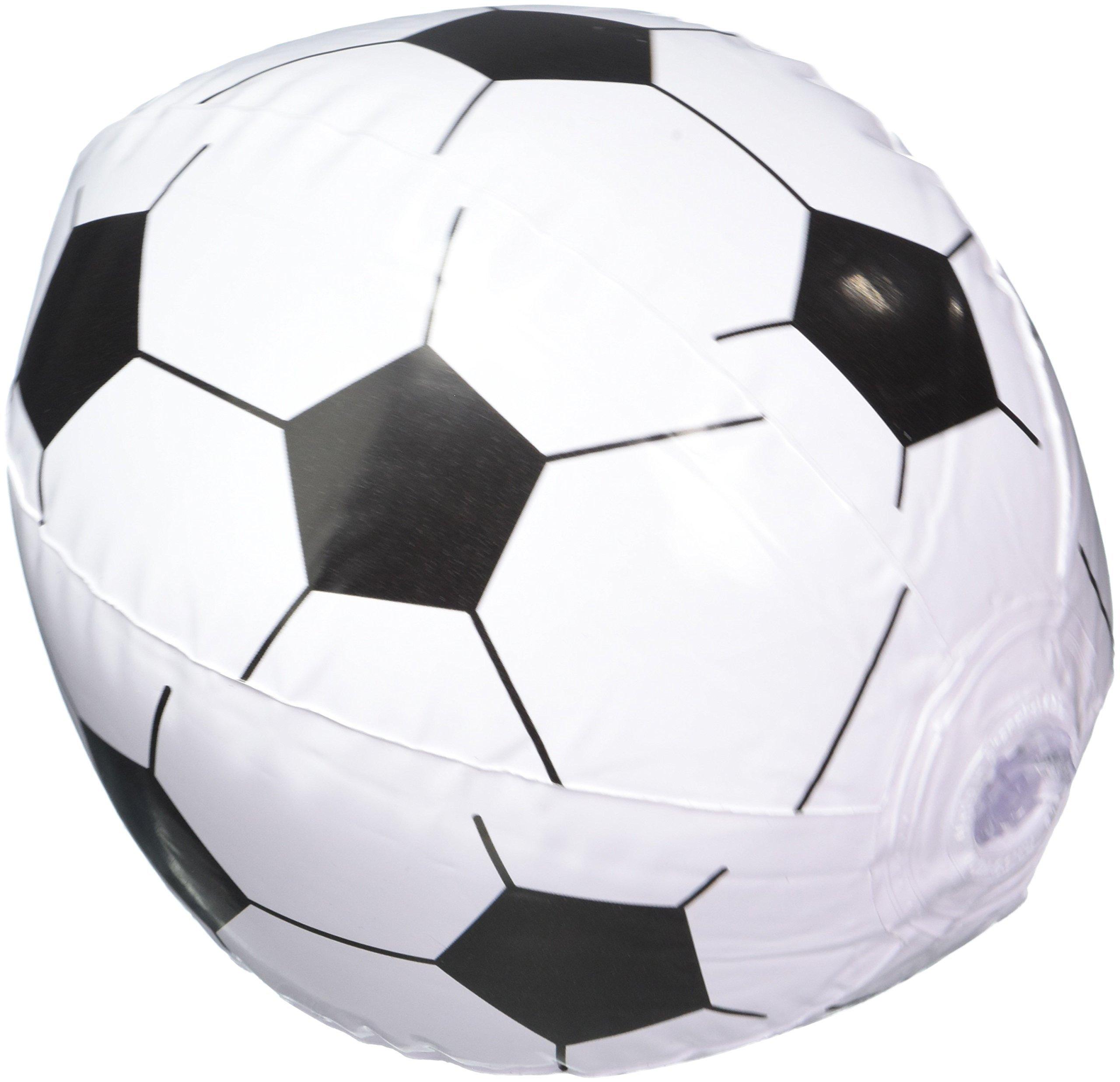 Amazon.com: 12 Soccer Ball Beach Balls Inflatable Fun Toy 1 Dozen ...