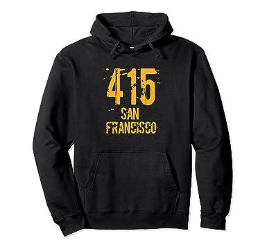 Amazoncom San Francisco Area Code Distressed Hoodie Clothing - 415 area code