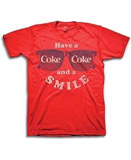 030d158316f Mens Coca Cola Shirt - Have a Coke and a Smile Tee - Coke Soda Classic