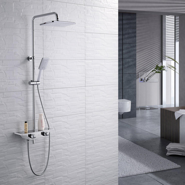 Homelody C Termostático Columna de ducha Conjunto de Ducha con Barra Ducha