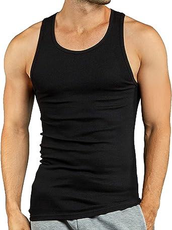Amazon.com: Knocker Men's 3 Tank Top Undershirts A-Shirt: Clothing