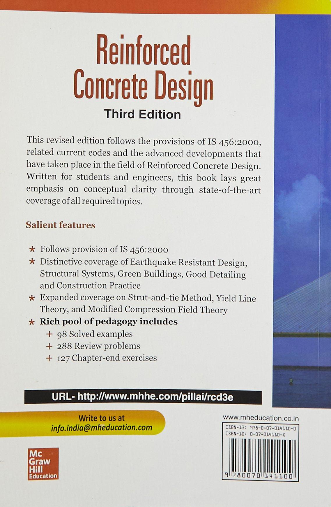 Reinforced concrete design pillai 9780070141100 amazon books fandeluxe Images