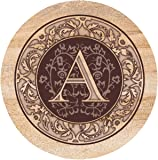 Thirstystone Drink Coaster Set, Monogrammed Letter A