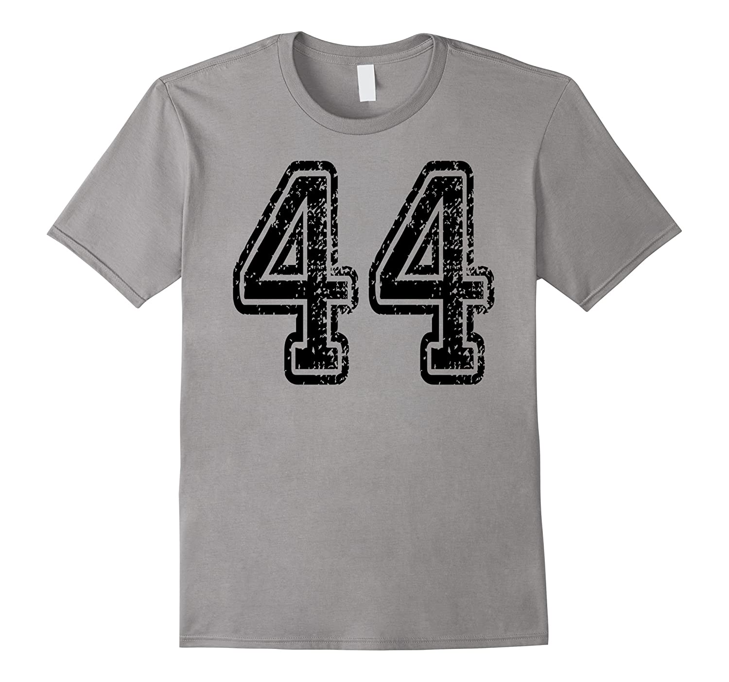 Number 44 T-Shirt - Grungy Sports Team Tees - both sides-CL