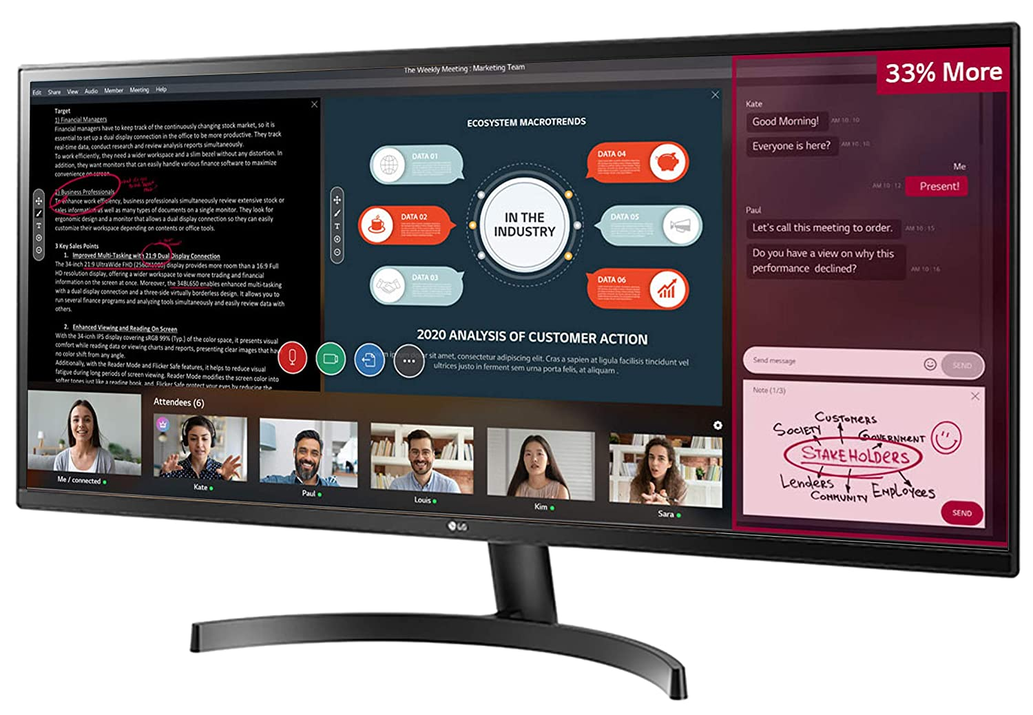 Amazon.in: Buy LG 34-inch UltraWide Monitor, 75 Hz, AMD Freesync, IPS Display with sRGB 99% for Gaming & Design, HDMI x 2-34WK500 (Black) Online at Low Prices in India   LG Reviews