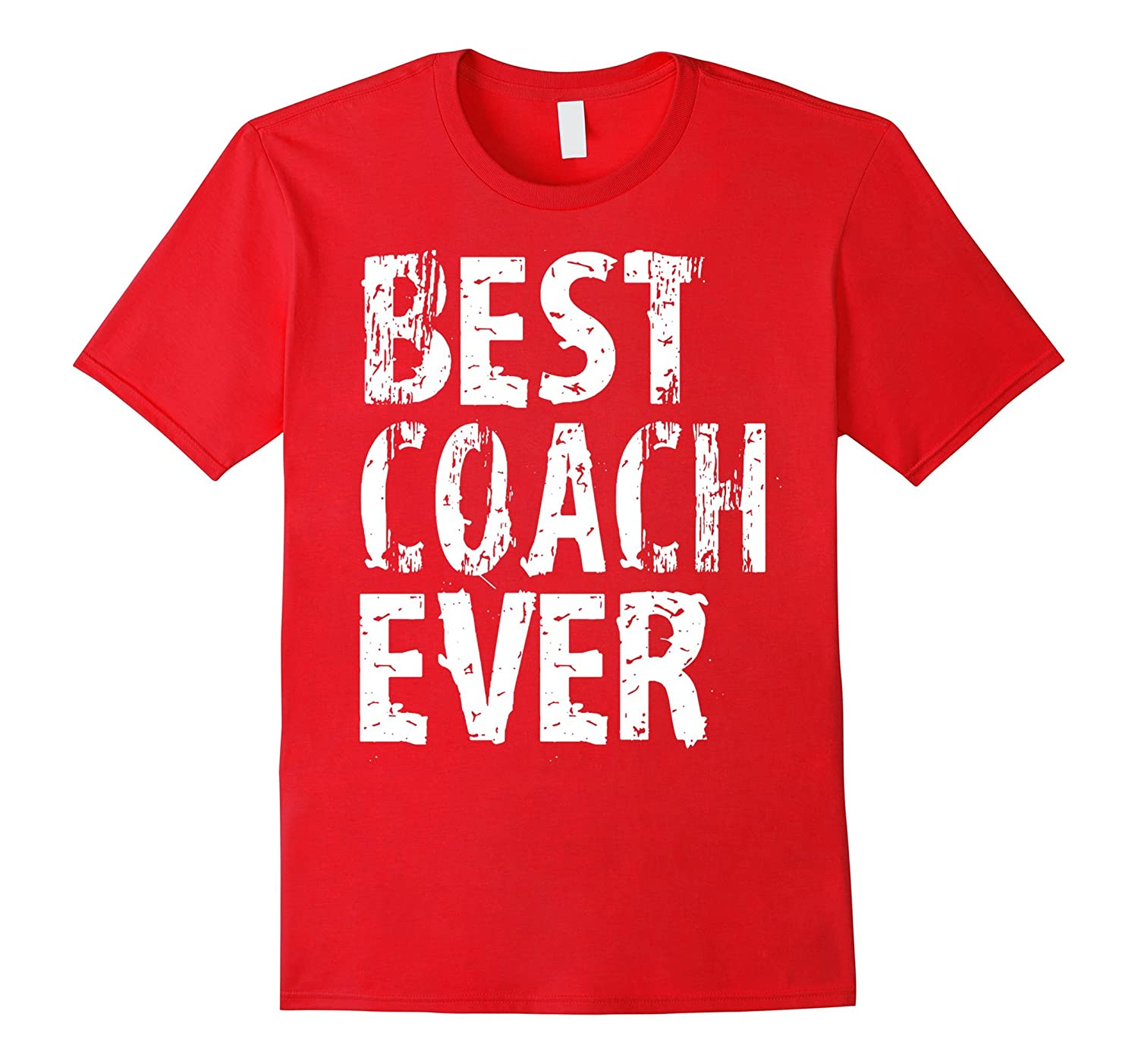 Best Coach Ever T Shirt Football Little League Coach Soccer-RT