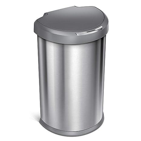 Amazon.com: Simplehuman, tacho de basura de 45 l ...