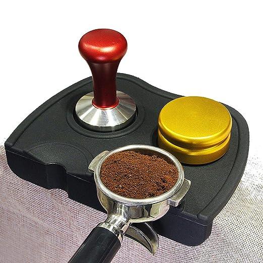 Soporte de silicona creativo para cafetera expreso, base de apoyo ...