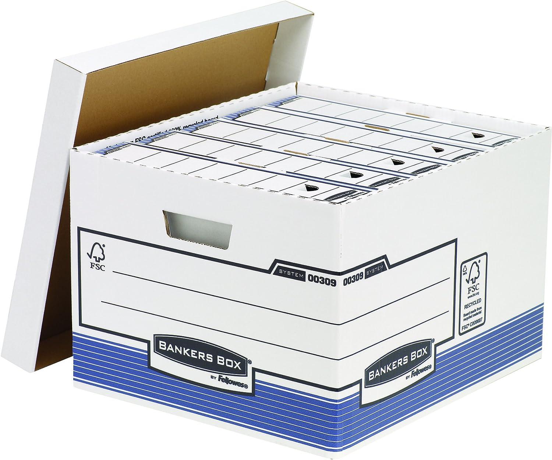 Bleu Import Italie Lot de 5 - Fellowes Boites de rangement Progetto Plus