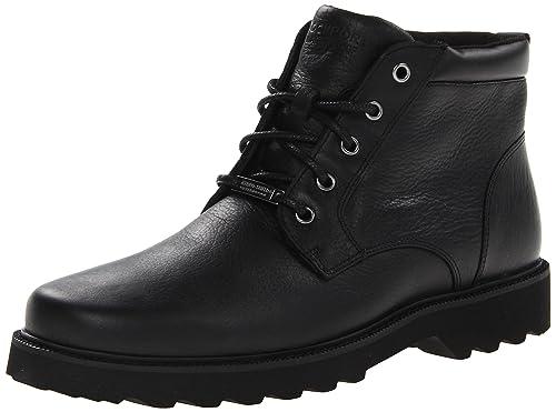 Rockport Men's Northfield WP Plain Toe Chukka Boot, Black Waterproof, ...