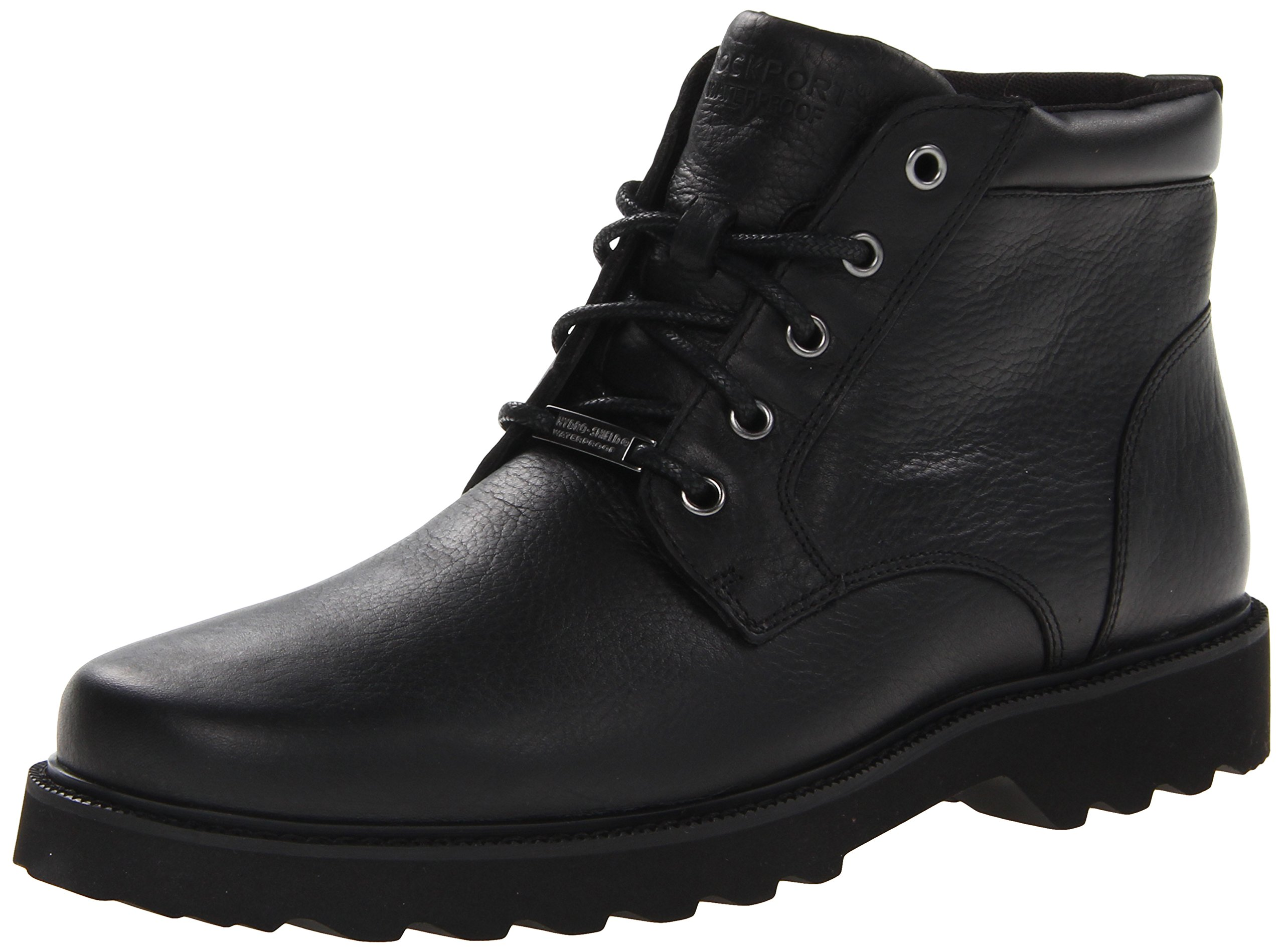 Rockport Men's Northfield WP Plain Toe Chukka Boot, Black Waterproof, 11 M US