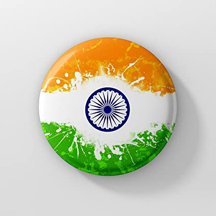 buy lastwave indian flag badge 44mm online at low prices in india