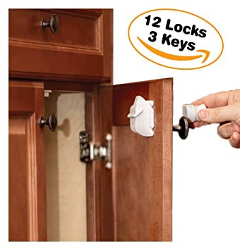Merveilleux Cabinet Locks Child Safety By Emee Baby, Magnetic, Hidden, Under Cabinet,  Keep