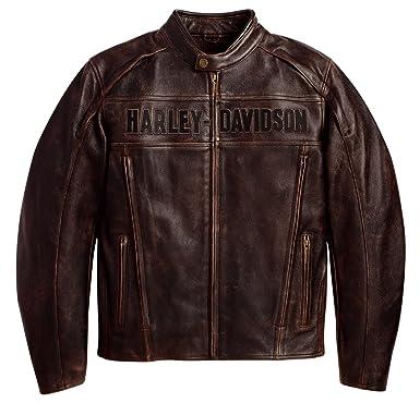 Roadway 11vm Pour En Harley Homme Blouson Davidson 98002 Cuir Marron ZqWTxBTR