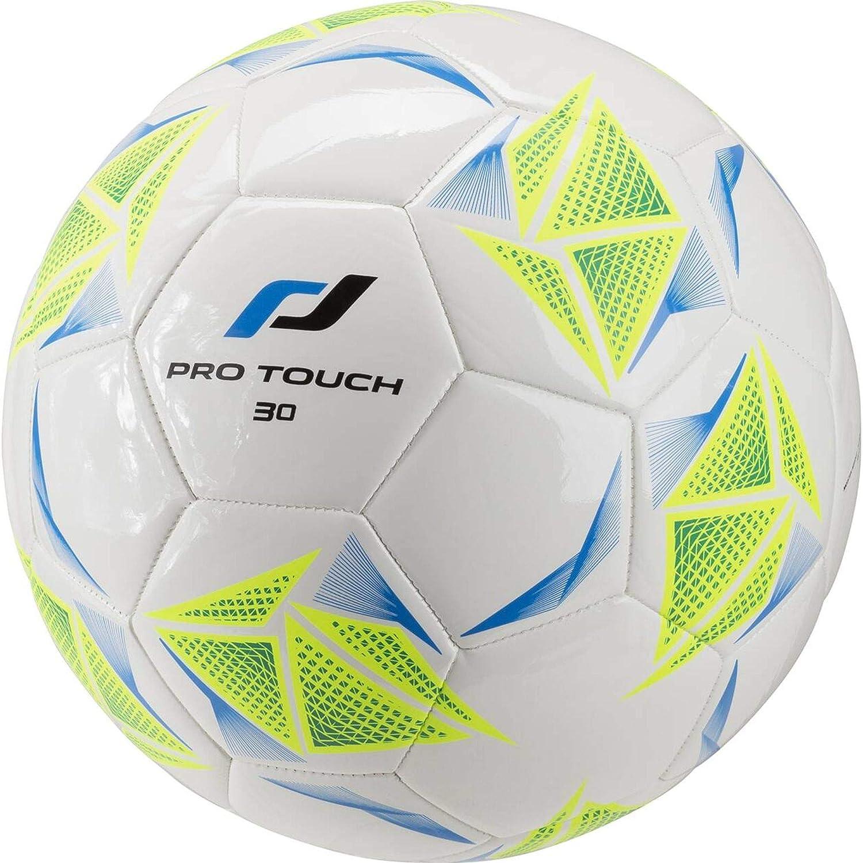 Pro Touch Force 30 Balón de fútbol, Color Blanco/Verde/Amarillo, 5 ...