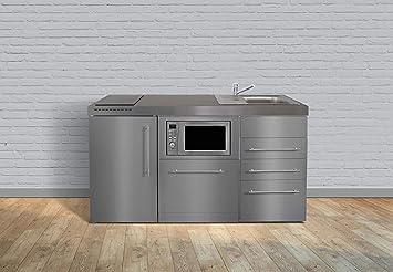 Miniküche Mit Kühlschrank Und Herd 120 Cm : Miniküche premiumline mpgsmess3 160 u2013 edelstahl u2013 kühlschrank