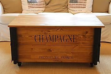 Coffre Table Basse en Joe's d'appoint Bois Table Uncle XkN0wP8nO