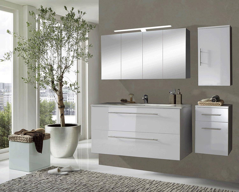 Designer badmöbel  SAM® Design Badmöbel-Set Rom, 120 cm, in Hochglanz weiß, 4tlg ...