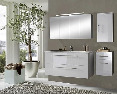 SAM® Design Badmöbel-Set Rom, 120 cm, in Hochglanz weiß, 4tlg ...
