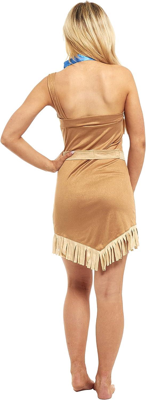 Disfraz de Pocahontas para mujer: Amazon.es: Ropa y accesorios