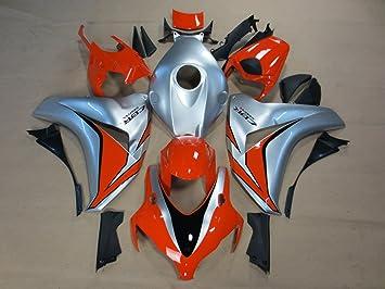 damiya embellecedores para motocicleta Honda CBR1000 2008 - 2011 plata naranja: Amazon.es: Coche y moto