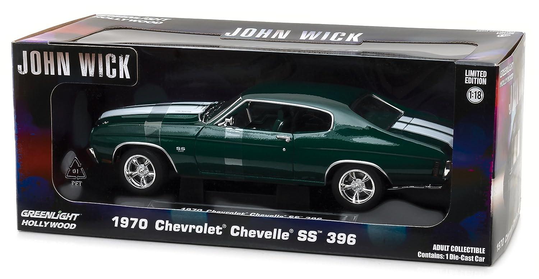 ff5d31f11af Greenlight Collectibles - Chevrolet Chevelle SS 396 John Wick - 1970 Coche  en Miniatura de colección