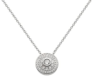 Dew Sterling Silver Round Necklace pTDoYlaR