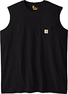 5ed60ef7bed9a Carhartt Men s Big   Tall Workwear Pocket Sleeveless Midweight T-Shirt  Relaxed Fit