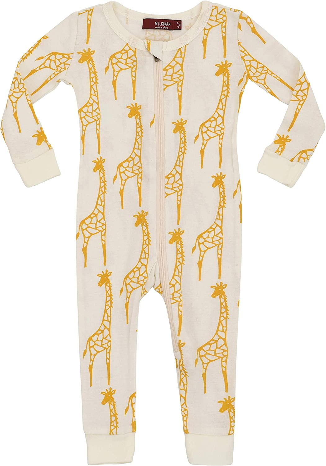 Yellow Giraffe MilkBarn Organic Cotton Zipper Pajama