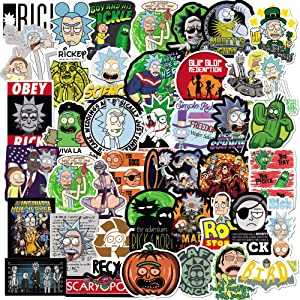 Rick and Morty Stickers Pack 100PCS,Funny Meme Stickers for Teens and Adults,Vinyl Decals for Hydroflask Water Bottles Laptop Phone Case(100pcs)