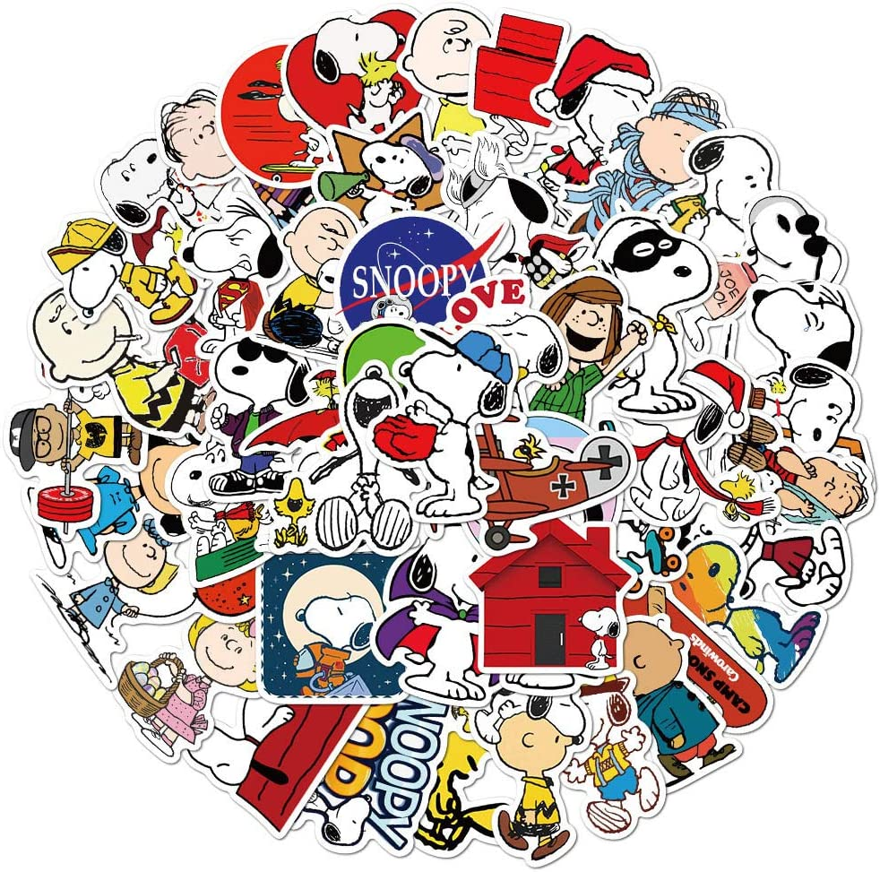 Cute Dog Stickers for Girl Water Bottle, Cartoon Animal Graffiti Decal for Teen Laptop Phone Skateboard Travel Case Guitar (Snoopy)