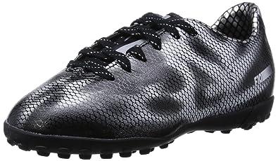 best service 3f653 33d07 adidas F10 TF Junior Football Boots, Black Silver, UK4