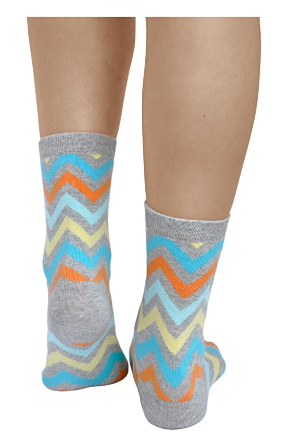 vitsocks Calcetines Originales Mujer (3x PACK) Coloridos Triângulos Zig-Zag Polka Dot ALGODÓN, Joy: Amazon.es: Ropa y accesorios