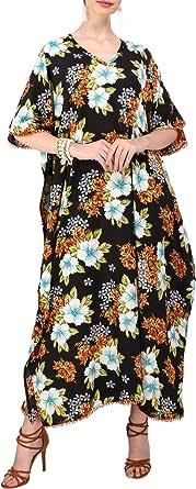 Miss Lavish London Mujeres caftán de Londres túnica Kimono Libre tamaño Largo Vestido de Fiesta para Loungewear Vacaciones Ropa de Dormir Playa Todos los días Cubrir Vestidos #101